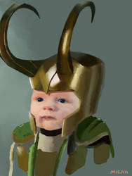 Nephew/ Loki Armor Unfinished Study by Scribblebot