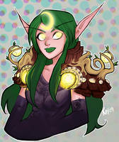 Night Elf Druid 071109 by Kayley