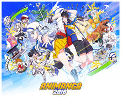 Animanga 2018 - Program Guide Cover by Sakon04