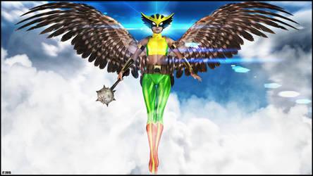 Hawkgirl Wallpaper by tiangtam