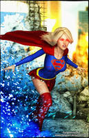 Supergirl Light'm Up by tiangtam