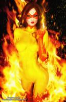 Firestar Pin-up by tiangtam