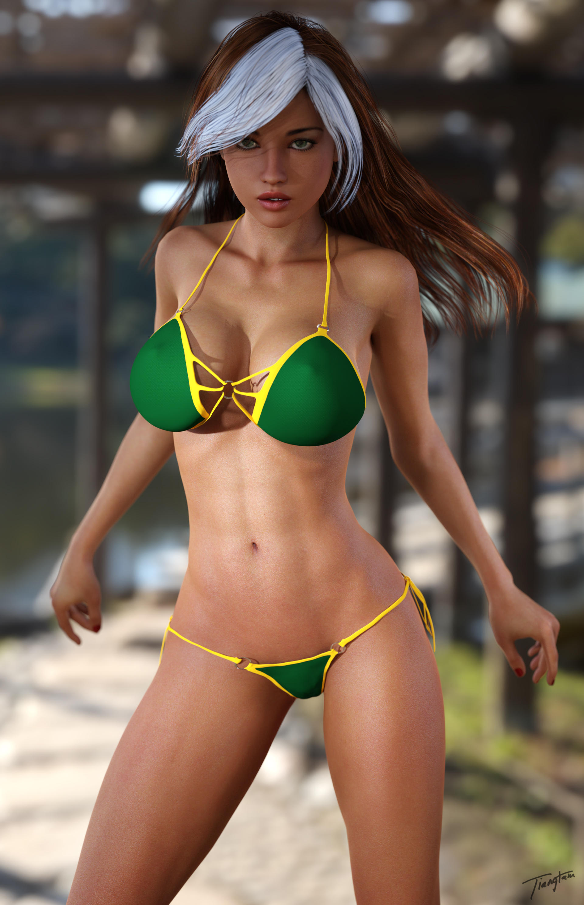 Swim Suit Series---Rogue by tiangtam