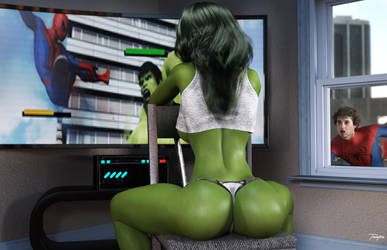 She-Hulk Relaxing at Home by tiangtam