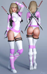Character Reference Gwenpool by tiangtam