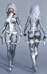 Character Reference Silver Sable by tiangtam