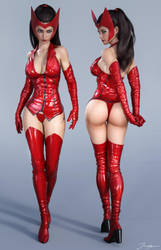 Character Reference Scarlet Witch v2 by tiangtam