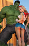 Hulk Taunts Supergirl by tiangtam