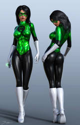 Character Reference Green Lantern Cruz v2 by tiangtam