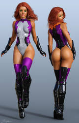 Character Reference Starfire v3 WIP by tiangtam