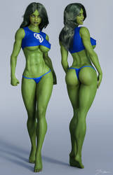 Character Reference She Hulk v5 by tiangtam