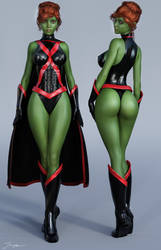 Character Reference Miss Martian v2 by tiangtam