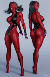 Character Reference Red She-Hulk v3 by tiangtam