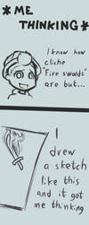Thoughts about Flaming Swords by TheNiceZombie