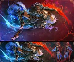Lightning - Mythril Scorpion Armor -[Full View] by randis