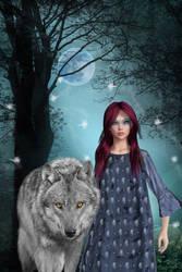 The night wolf by OlgaGodim