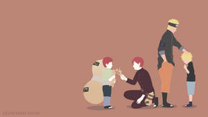 You Are Not Alone | Naruto and Gaara | Minimalist by Sephiroth508
