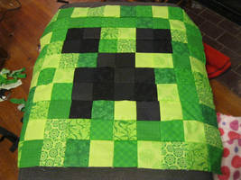 Creeper Quilt front by Blaknite