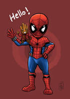 Spidy and Baby groot by tontentotza