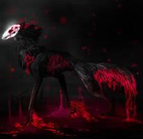 Collab: Skull Wolf by Darkside-Cookie