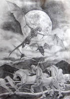 Arrival of the dragons by Manweri