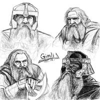 Gimli sketches by Manweri