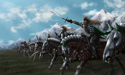 Charge of the Knights by Manweri