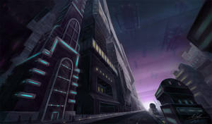 Futuristic city by Manweri
