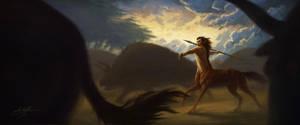 Centaur Hunter by Manweri