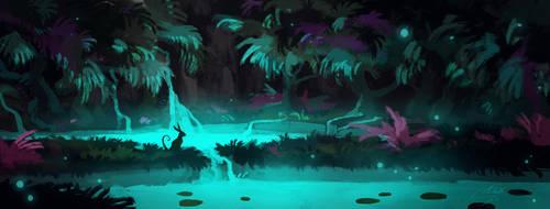 Speedpainting: Subterranean Oasis by Manweri