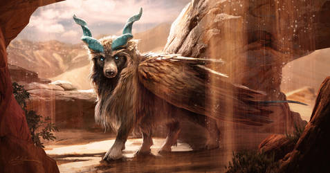 Winged Bear Goat by Manweri