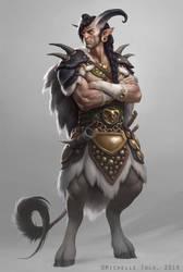 Faun Warrior by Manweri