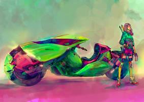 Neon Ryder Study by MatoelGrande