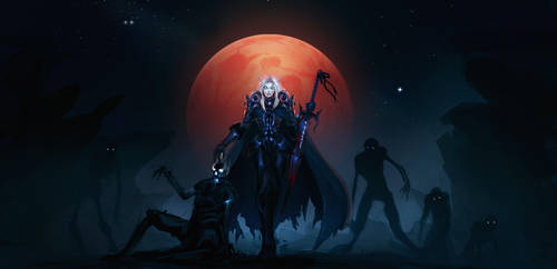WOW: Blood Elf Death Knight by Leevitron