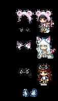 Resources - Bear, Fox, Cat Hats by Shirouu-kun