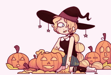 pumpkin witch by Koalify13