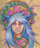 lotus cat god by artofdroth
