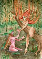 Naiad and Dryad by artofdroth