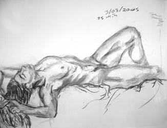 Life drawing - reclining by Torrain