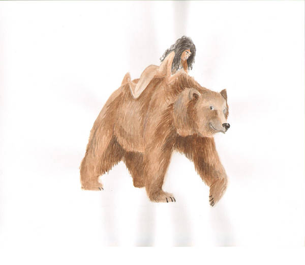Mowgli and Baloo by kookybird