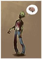 Zombie by kookybird