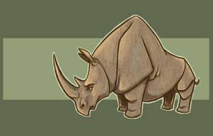 Rhino by kookybird
