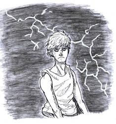 Inktober: Day 27- Thunder by AllyN-One