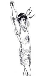 Inktober: Day 26- Stretch by AllyN-One