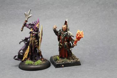 Female Drk Elf, Red Wizard by Geoffryn