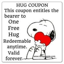 Snoopy Hug Coupon by Geoffryn