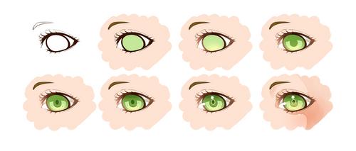 How I color eyes - Paint Tool Sai by Motoko-Su