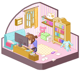 An ordinary room by Motoko-Su