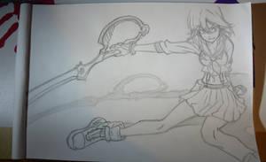 Ryuuko Matoi- Kill la Kill (Sketch) by SorinDrawings