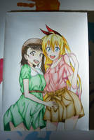 Chitoge and Onodera by SorinDrawings